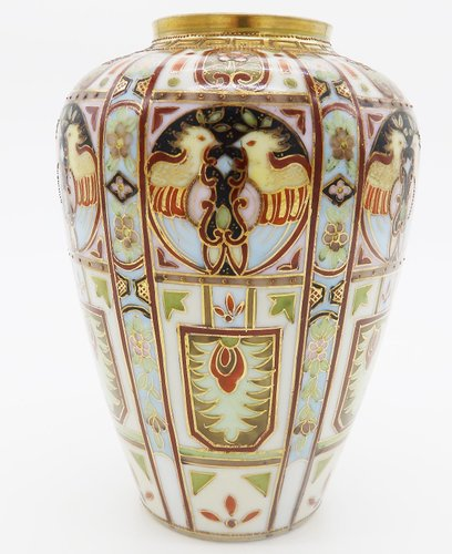 Art Deco Hand Painted Vase From Liberty Co 1920s For Sale At Pamono