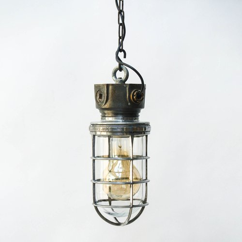 Industrial Metal Lighting Explosion Proof Hanging Light Mid Century