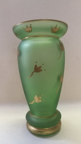 French Blown And Frosted Glass Vase 1950s For Sale At Pamono