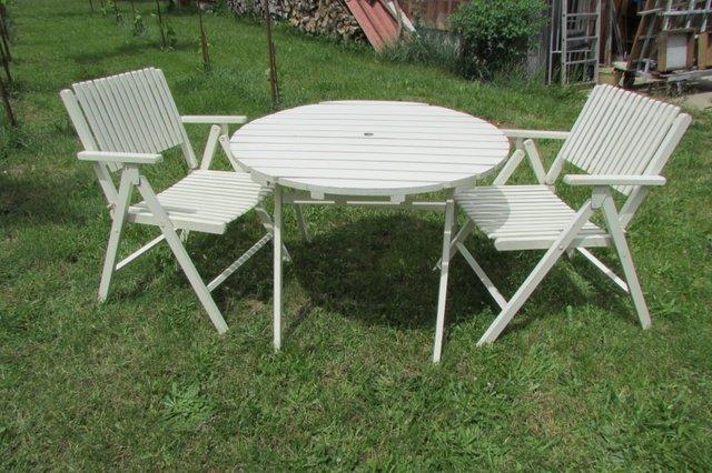 Tavoli E Sedie Da Giardino Richiudibili.Tavolo E Sedie Da Giardino Pieghevoli Di Gleyzes Anni 50 In