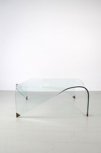 Square Curved Gl Coffee Table 1960s