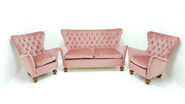 Vintage Sofa U0026 2 Lounge Chairs, 1960s For Sale At Pamono