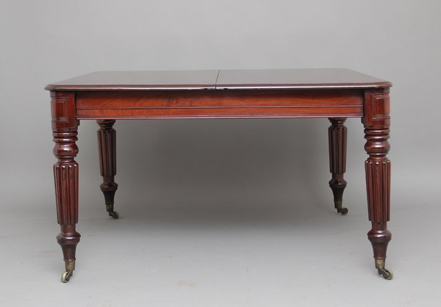 Antique Mahogany Extendable Dining Table For Sale At Pamono