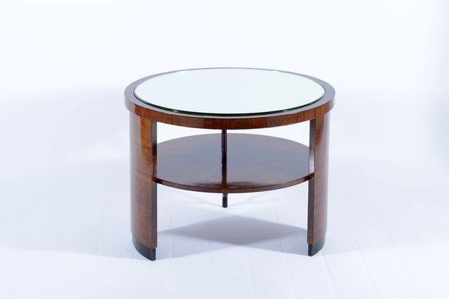 Art Deco Italian Mirror Topped Side Table, 1930s For Sale At Pamono