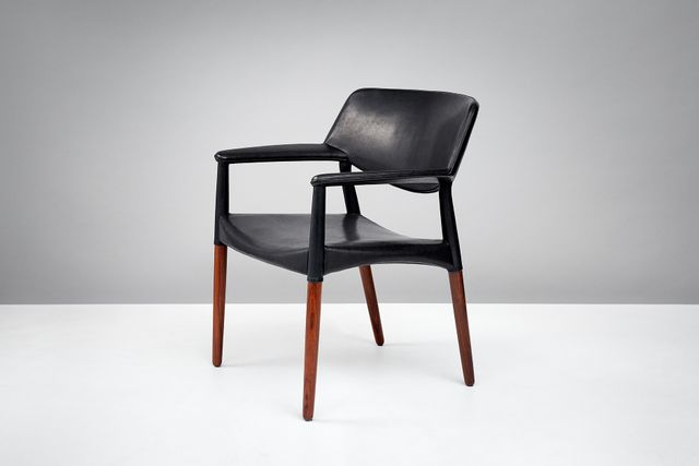 Rosewood And Leather Armchair By Aksel Bender Madsen And Ejner