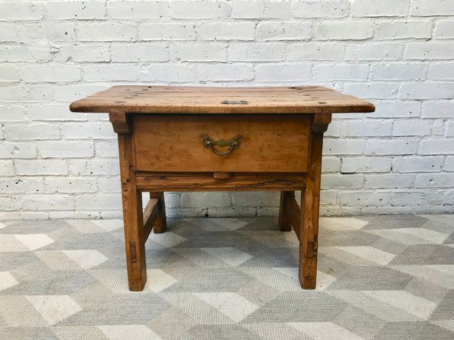 Antique French Farmhouse Side Table With Drawer For Sale At Pamono