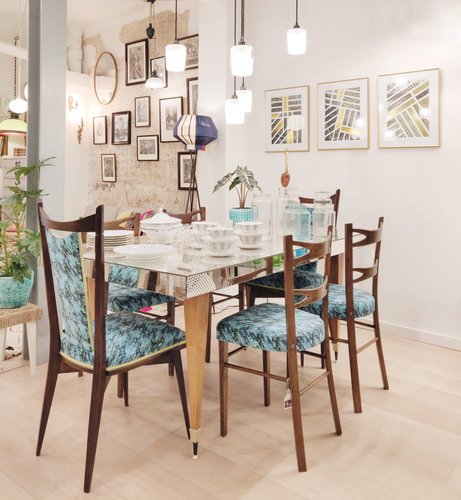 Spanish Dining Chairs From Muebles Mocholi 1960s Set Of 4 For Sale At Pamono