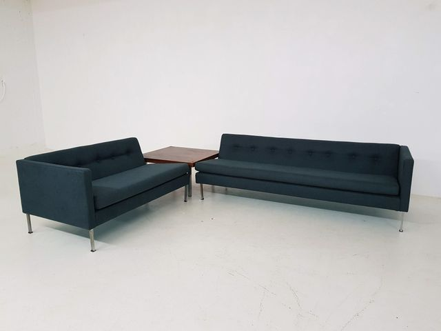 2 Dark Green Sofas & Coffee Table from Artifort, 1960s for sale at ...