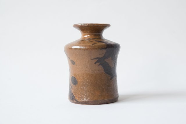 Mid Century Brown Stoneware Vase From Kubicek For Sale At Pamono