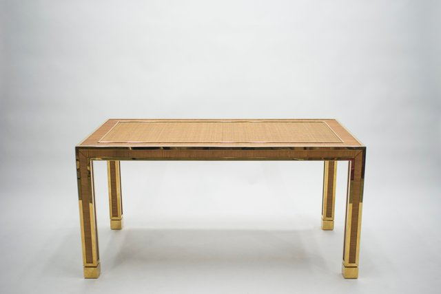 Tavolo Da Pranzo In Bambu E Ottone Di Gabriella Crespi Anni 70 In Vendita Su Pamono