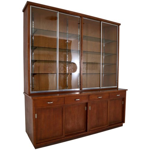 Plywood And Oak Display Cabinet From, Short China Cabinet