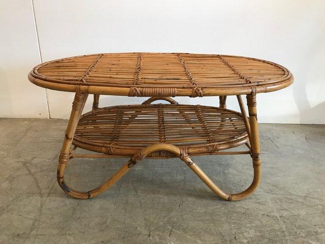 Rattan Coffee Table From Pierantonio Bonacina 1950s