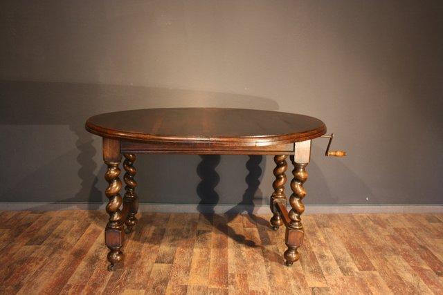 Tavolo Ovale Antico : Tavolo da pranzo allungabile ovale antico in quercia di jas