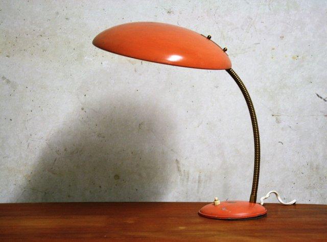 Lampada Da Tavolo Bauhaus Vintage Arancione Di Philips Anni 60 In Vendita Su Pamono