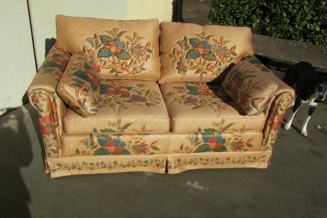 Divano Tessuto Floreale : Divano a due posti in tessuto floreale anni in vendita su pamono