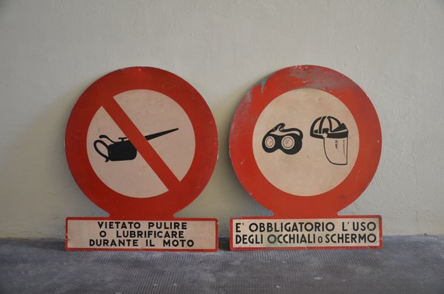 Factory Warning Signs 1950s Set Of 2 For Sale At Pamono