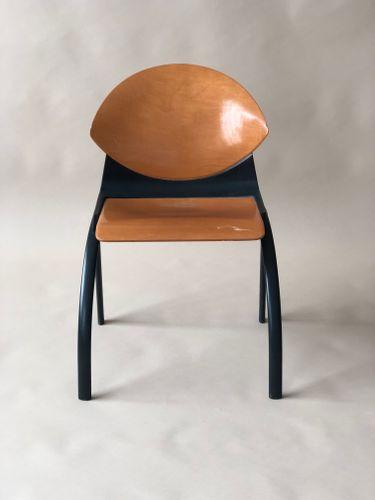 Chaise Vintage en Contreplaqué par Gerd Lange, 1980s