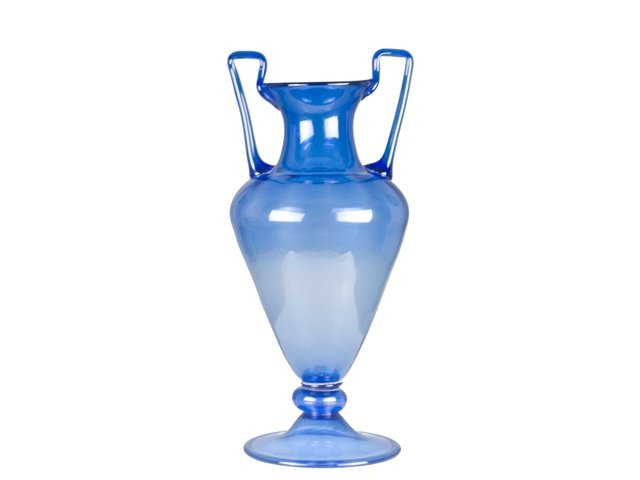 Large Vintage Italian Blue Murano Glass Vase For Sale At Pamono