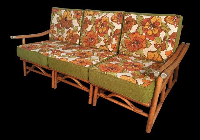 Prime Vintage Bamboo Sectional Sofa From Ficks Reed 1970S Creativecarmelina Interior Chair Design Creativecarmelinacom