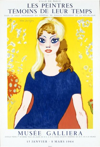 Brigitte Bardot On Set Directors Chair POSTER