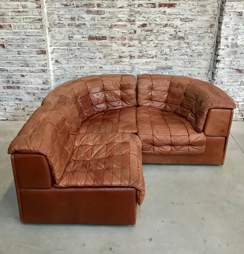 Vintage Cognac Leather DS 11 Modular Sofa from de Sede, 1970s