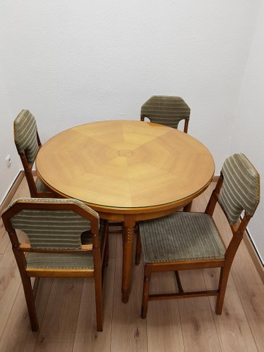 Antique Biedermeier Cherry Dining Room Set