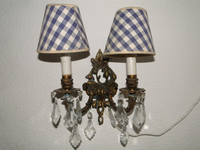 Antique Bronze Crystal Double Wall