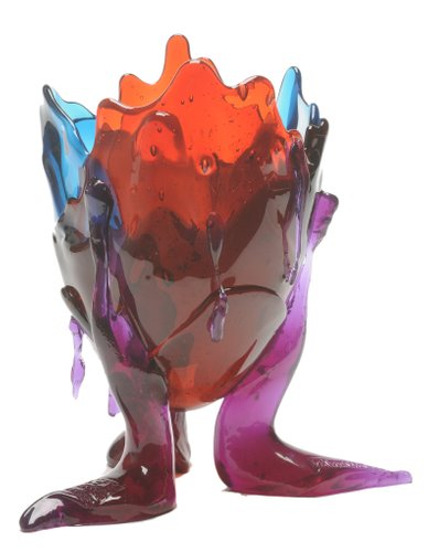 Gaetano Pesce Design.Clear Special Extracolor Vase By Gaetano Pesce For Fish Design