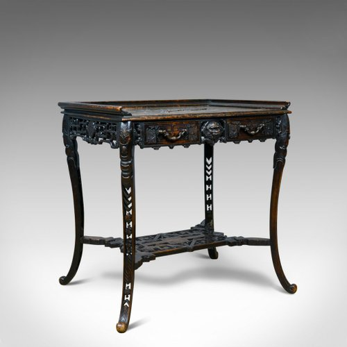Chinese Side Table.Antique Carved Chinese Side Table 1900s For Sale At Pamono