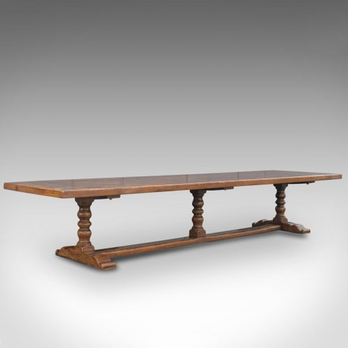 Large Antique English Jacobean Style Refectory Table For Sale At Pamono