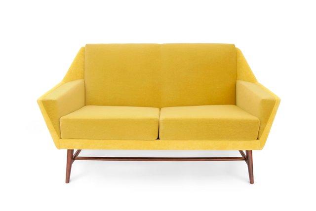 Scandinavian Yellow Sofa, 1950s