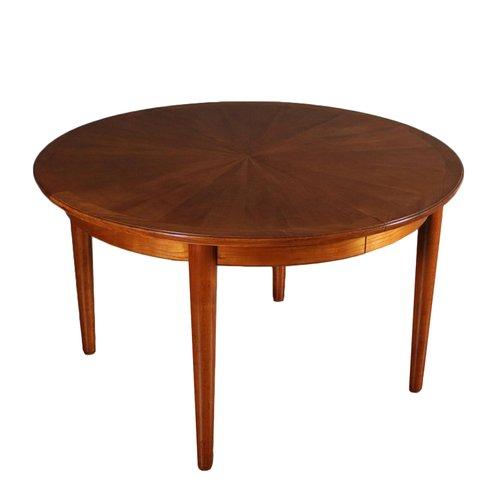 Tavolo Color Ciliegio Allungabile.Tavolo Da Pranzo Rotondo Allungabile Impiallacciato In Legno Di
