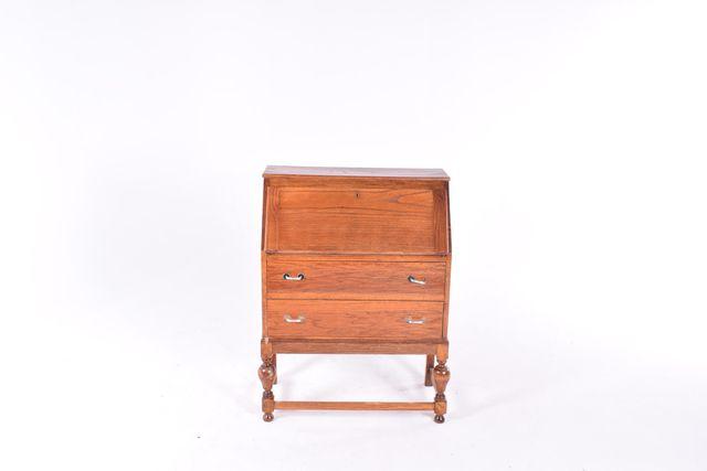 Antique Oak Bureau For At Pamono