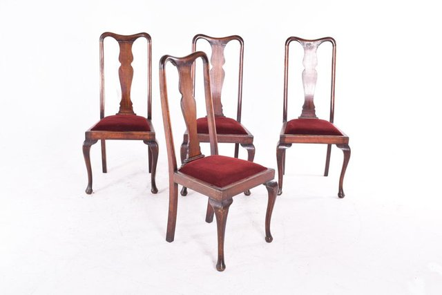 Antique Queen Anne Style Dining Chairs, Queen Anne Style Dining Room Setups
