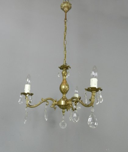 Crystal Chandelier With Matching Wall Sconces Set of 3