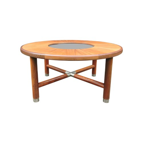 Mid Century Round Teak And Glass Coffee Table From G Plan For Sale