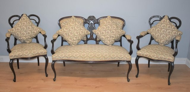 Antique Edwardian Mahogany Living Room Set For Sale At Pamono