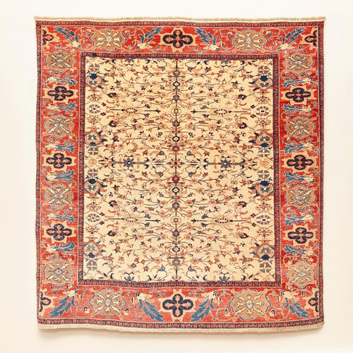 Leshghi Hand Knotted Wool Rug, 2000s