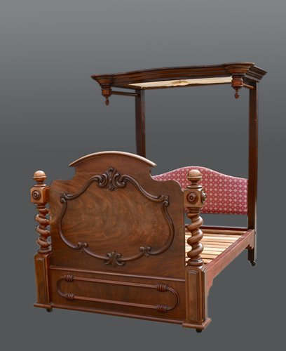 Antique Mahogany Double Bed For At