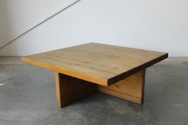 Solid Pine Coffee Table.Swedish Solid Pine Coffee Table By Sven Larsson 1960s