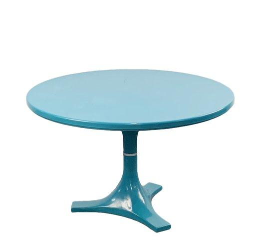 Round Turquoise Dining Table By Anna Castelli Ferrieri Igo Gardella For Kartell 1966