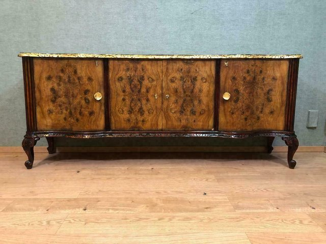 Antique Wooden Chippendale Sideboard For Sale At Pamono