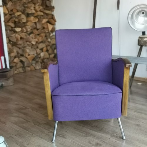 Vintage Purple Lounge Chair For Sale At Pamono