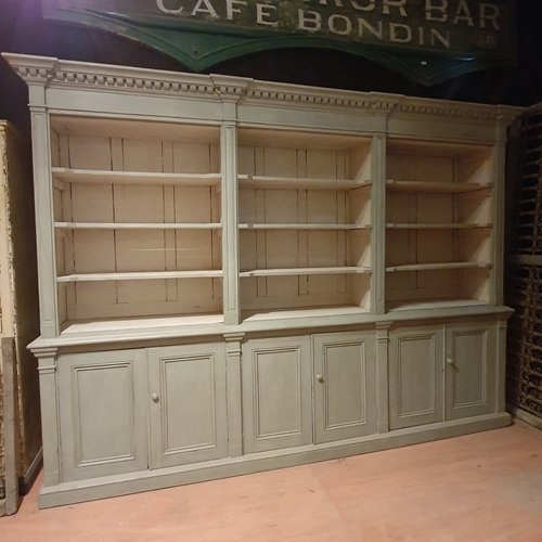 Large Antique Pine Kitchen Cabinet Or