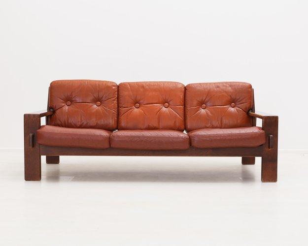Peachy Bonanza Leather Sofa By Esko Pajamies For Asko 1960S Home Remodeling Inspirations Gresiscottssportslandcom
