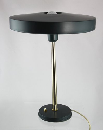 Chrome Plated and Metal Table Lamp by Louis C. Kalff for Philips, 1950s