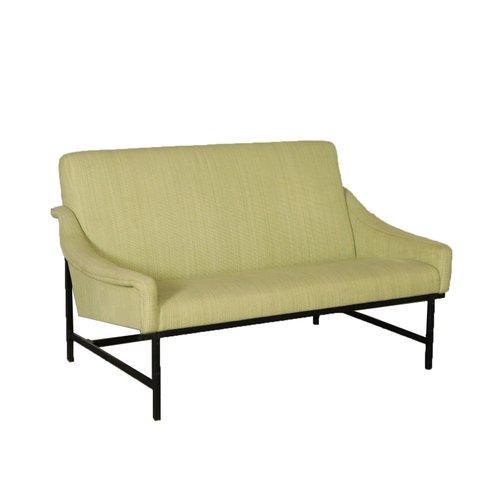 Mid-Century Italian Green Fabric Sofa, 1950s