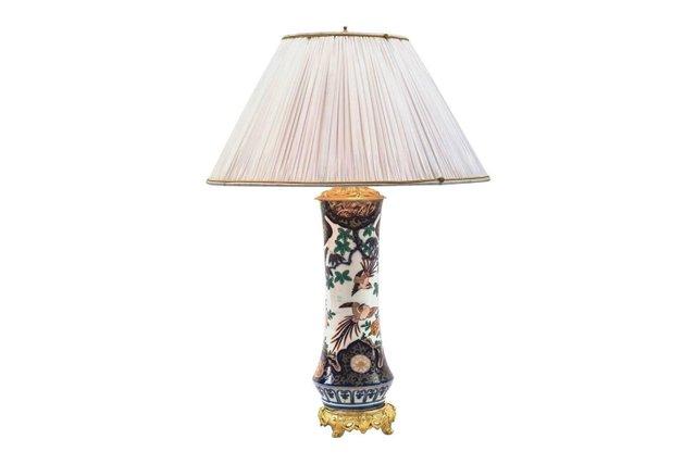 Imari Green Lampe aus vergoldeter Bronze & Porzellan, 1880er