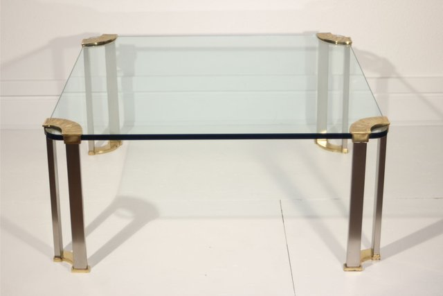 Glass Coffee Table Images.Bronze And Glass Coffee Table By Peter Ghyczy 1970s