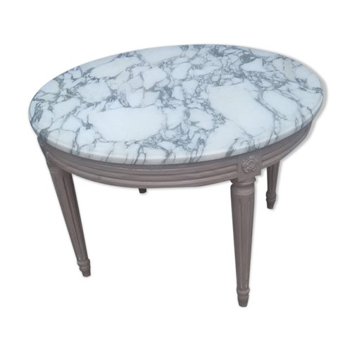 Round Vintage Marble Coffee Table For Sale At Pamono